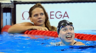 Gold medal winner Lilly King (front) won the 100-meter breaststroke over her rival, Russia's Yuliya Efimova. Lilly King is a great example of using performance psychology to perform under pressure.